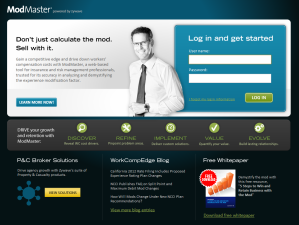 ModMaster login page Screenshot